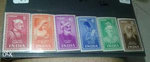 Post stamp of full set of 6 mint