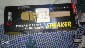 White And Gold Bluetooth Microphone Box