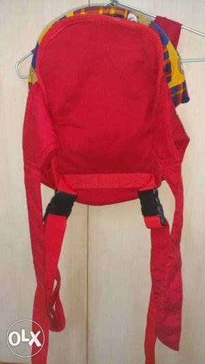 Baby carrier, red colour baby carry bag, good