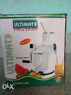 White Ultimate Fruit Juicer Box