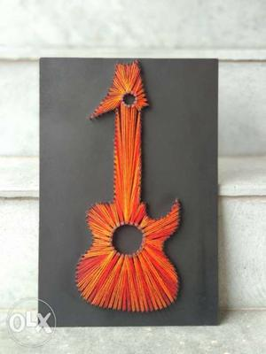 Guitar wall art (string art)