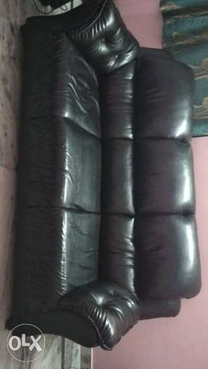 Leather sofa 1 three seater 1 two seater recently