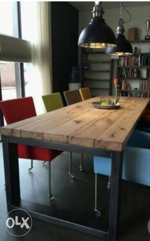 New distressed dining table for cafe and home