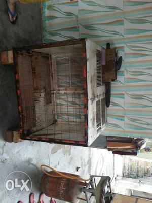 Grey Metal Chicken Coop