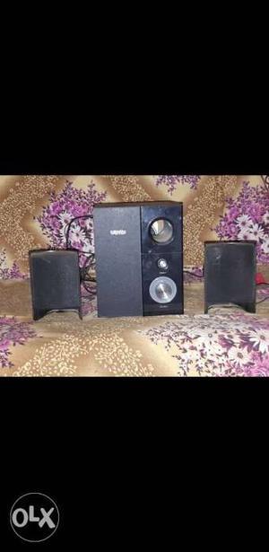 Artist speaker..Black And Gray Multimedia Speaker System