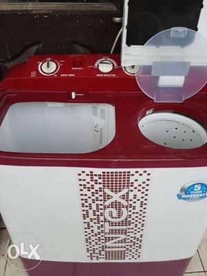 Intex Washing Machine, 4 Months old, In Warranty