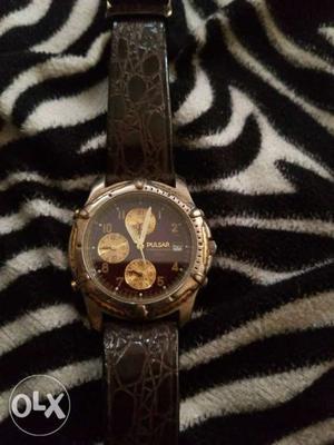 Pulsar Japan sweep movement Chronograph watch