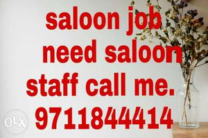 Salon and Beauti parlour work bases job for girls