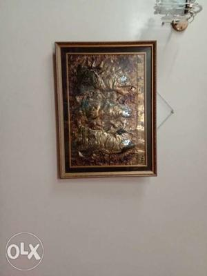 Brown Embossed Wall Decor