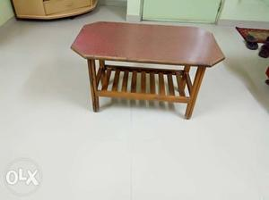 Octagonal Brown Wooden Center Table