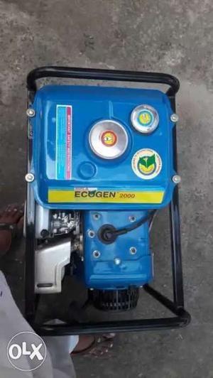 Blue And Black Portable Generator