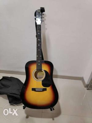 Fender squire SA105 acoustic guitar along with