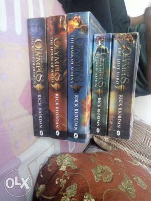 Heroes of Olympus, set of 5(all) very good