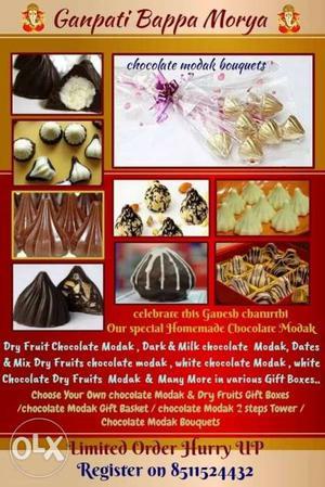 Homemade chocolate modak