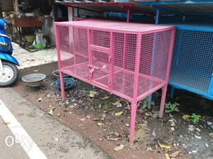 Pink Metal Chicken Coop