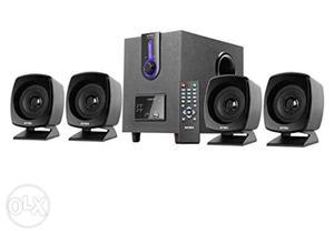 Black And Gray Multimedia Speaker System