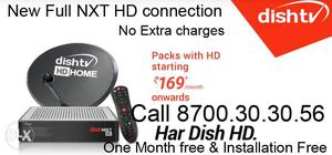 Dish Tv New NXT Full HD Connection