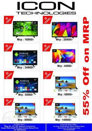 ICON TECHNOLOGIES-Wholesalers-SONY,LG,Samsung.ICON Led Tv's