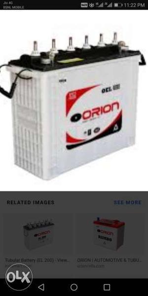 Orion 150ah battery & 850va exide inverter