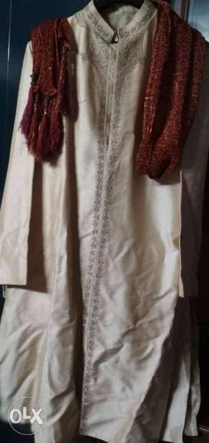 Pure silk sherwani and pure silk payjami