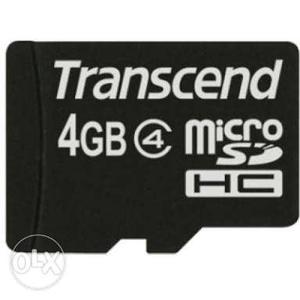Transcend 4 GB MicroSD Memory Card