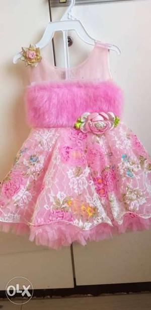 Designer Baby Birthday Dress. Perfect for parties