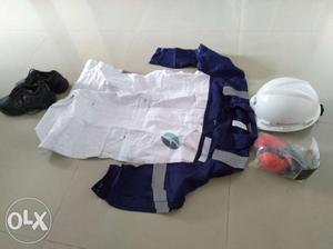 Safety Kit, multiple Boiler suits, safety shoes,