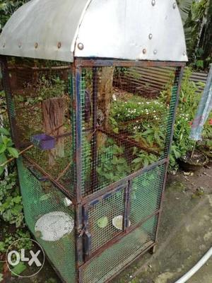 Blue And Green Steel Birdcage