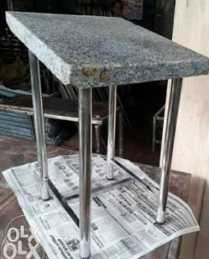 Steel framed washing stone