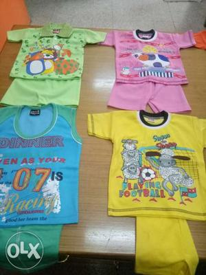 We have T Shirt sets of 2 PC T Shirt and nicker