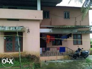 13cents land with 3bhk house& 5 coconut trees