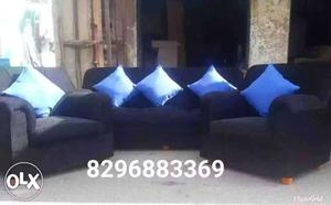 Brand new fabric sofa set with warranty and cushions cost