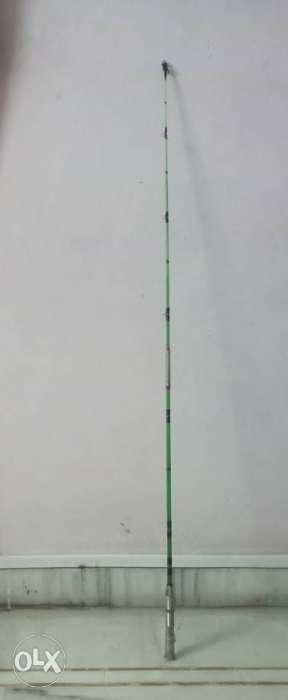 Green And Gray Fishing Rod