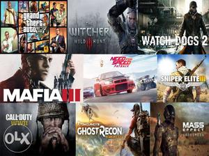Latest Pc Games at rate of rs 100 per contact on