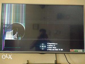 Lg TV 42 inch cracked tv for just  only