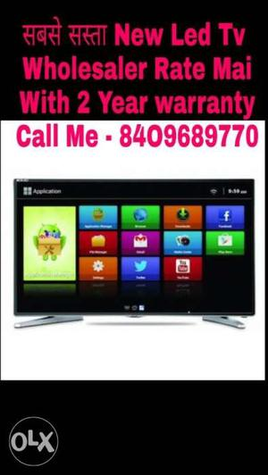 New Smart 32 inch Smart imported Led Tv.with 2 Yr warranty