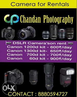 Dslr cameras for rent with dual lens