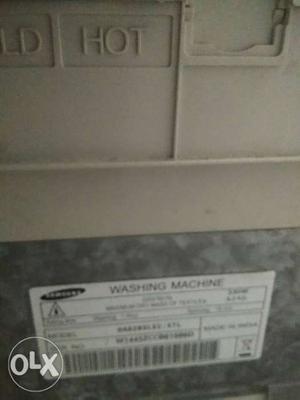 Samsung top load washing machine