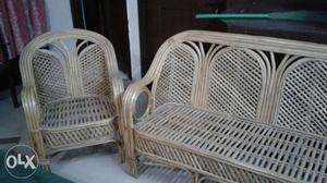 This is sofa and made by bamboo metaril.that
