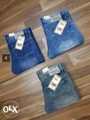 Blue Denim Jeans And White And Blue Denim Bottoms