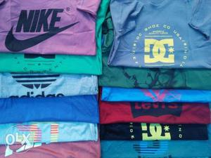 Wholesale men's t shirt mixed size colores