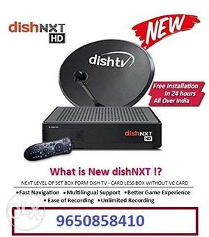 Dish Tv nxt hd connection With super family Package.