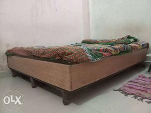 Double bed with box size- 5.6 feet by 6 feet
