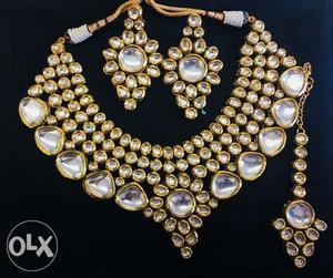 Kundan Necklace set with mangtika