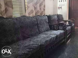 Original teak wood sofa set 3+1+1 in a very gud