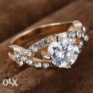 Fashion Gold color ring for Women wedding ring