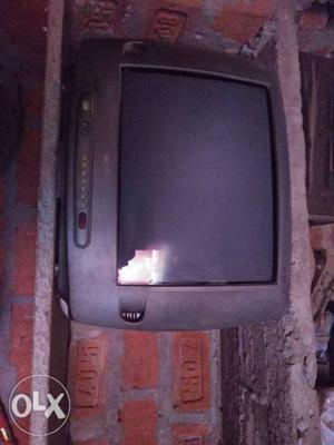 Gray CRT TV Without Remote