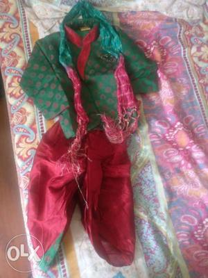 Ethnic dress for 6 mths- 1 yr old kid used only