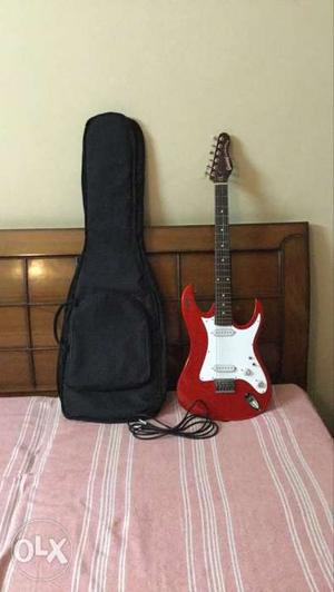 Givson super deluxe electric guitar with bag and guitar