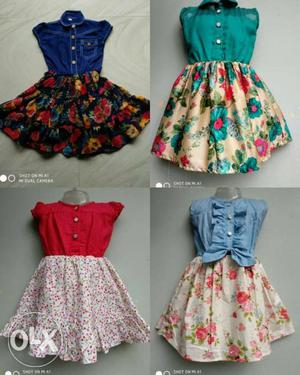Kids frock 18 to 26 size(1 to 5 age) 1 pcs ₹ 570